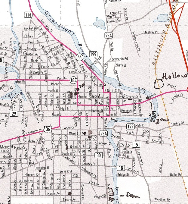 Map of Piqua, Ohio