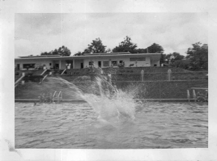 """Me in a cannonball at a swimming pool in Columbia, S.C."""